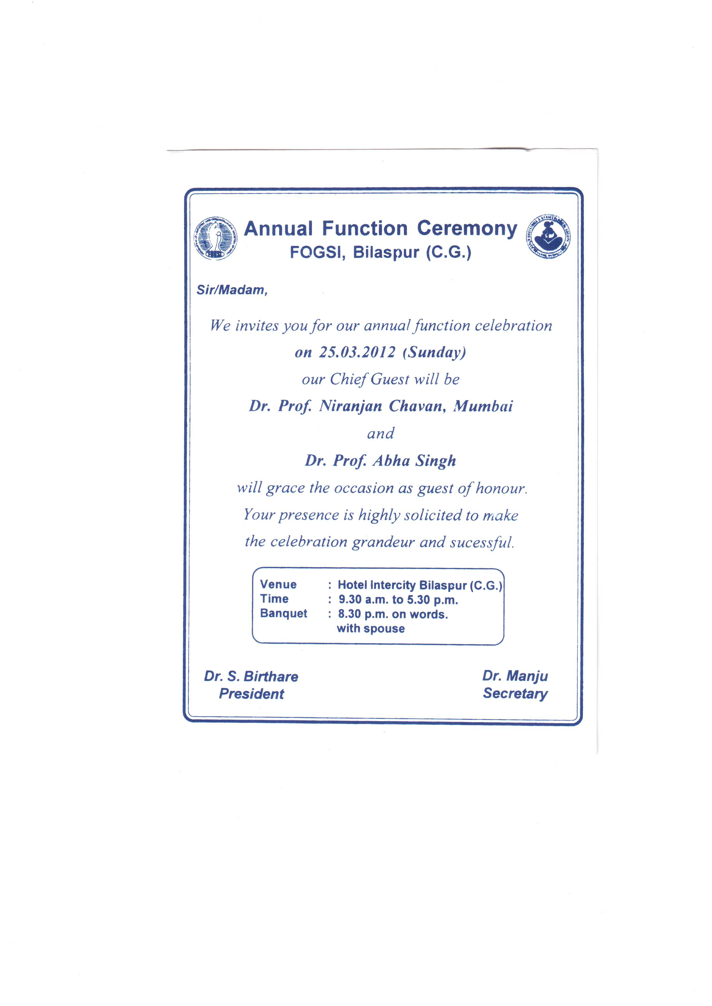 Invitation card of bilaspur fogsi society niranjan chavans wordspeak image stopboris Choice Image